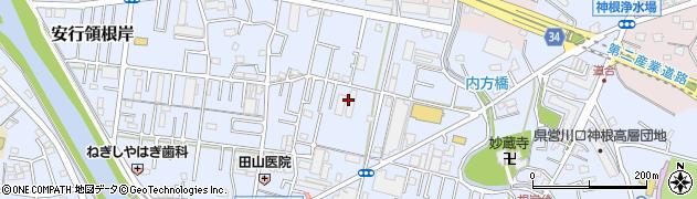 埼玉県川口市安行領根岸周辺の地図