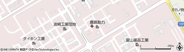 茨城県神栖市砂山周辺の地図