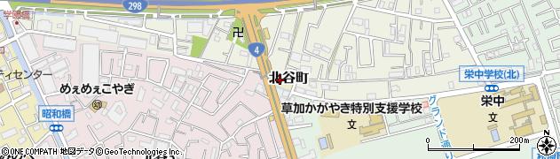 埼玉県草加市北谷町周辺の地図
