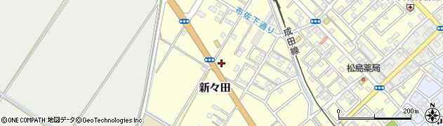 千葉県我孫子市新々田周辺の地図