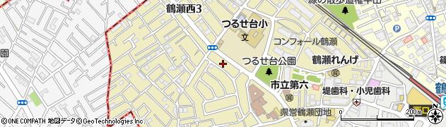 埼玉県富士見市鶴瀬西周辺の地図