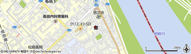 千葉県我孫子市都周辺の地図