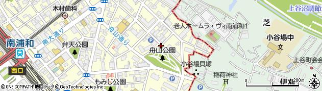 南浦和団地周辺の地図