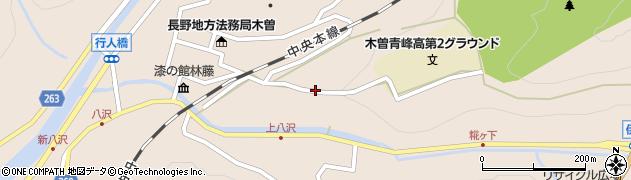 長野県木曽郡木曽町福島山平周辺の地図