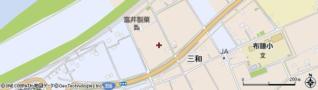 千葉県栄町(印旛郡)三和周辺の地図