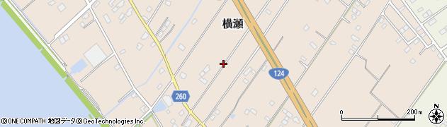 茨城県神栖市横瀬周辺の地図