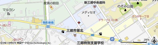 埼玉県三郷市上彦川戸周辺の地図