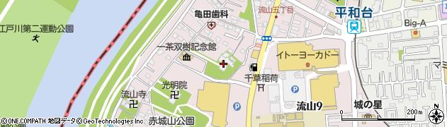 長流寺周辺の地図