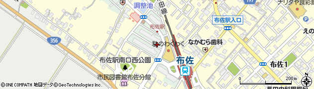 千葉県我孫子市布佐平和台周辺の地図