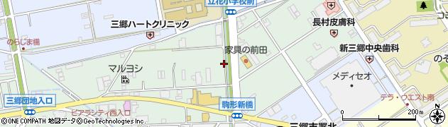 埼玉県三郷市上彦名周辺の地図