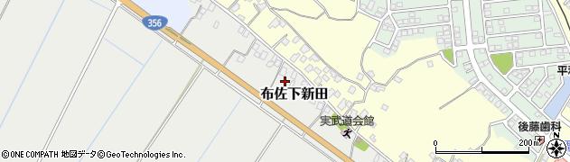 千葉県我孫子市布佐下新田周辺の地図