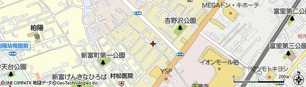 千葉県柏市吉野沢周辺の地図