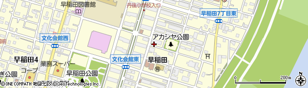 埼玉県三郷市早稲田周辺の地図