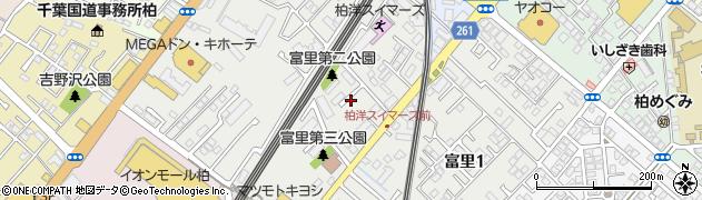 千葉県柏市富里周辺の地図
