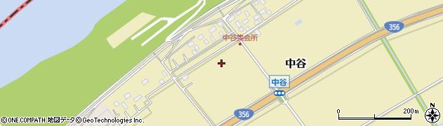 千葉県栄町(印旛郡)中谷周辺の地図