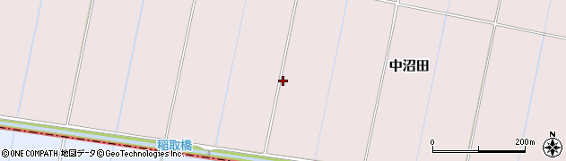 千葉県我孫子市中沼田周辺の地図