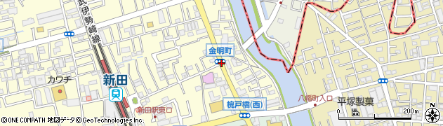 金明町周辺の地図