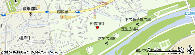 松森神社周辺の地図