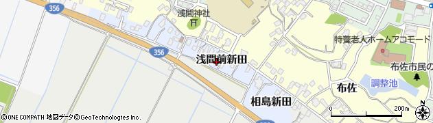 千葉県我孫子市浅間前新田周辺の地図