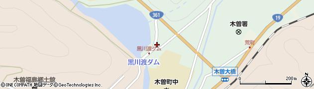 長野県木曽郡木曽町新開黒川渡周辺の地図