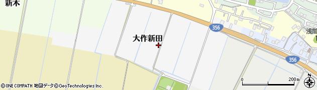 千葉県我孫子市大作新田周辺の地図