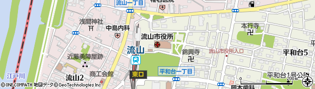 千葉県流山市周辺の地図