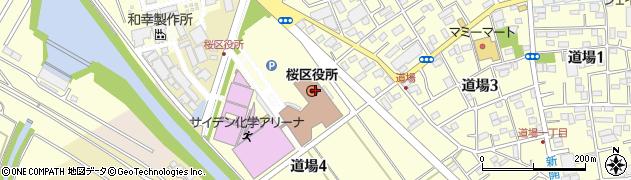 埼玉県さいたま市桜区周辺の地図