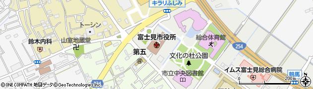 埼玉県富士見市周辺の地図