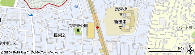 埼玉県草加市長栄周辺の地図