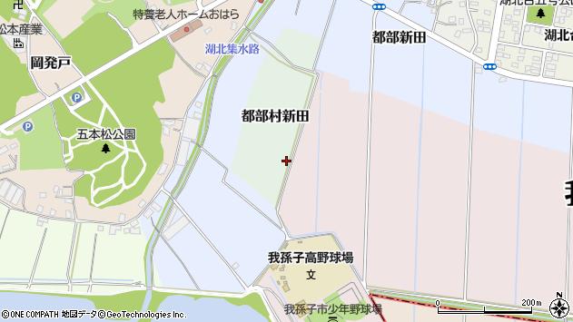 〒270-1134 千葉県我孫子市都部村新田の地図