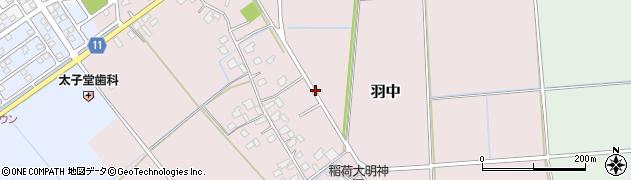 茨城県利根町(北相馬郡)羽中周辺の地図