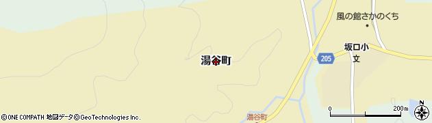 福井県越前市湯谷町周辺の地図