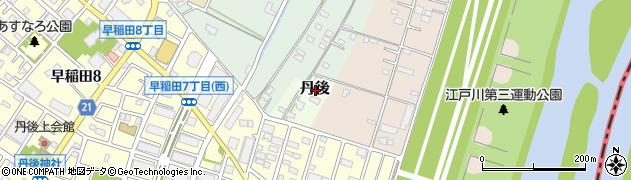 埼玉県三郷市丹後周辺の地図
