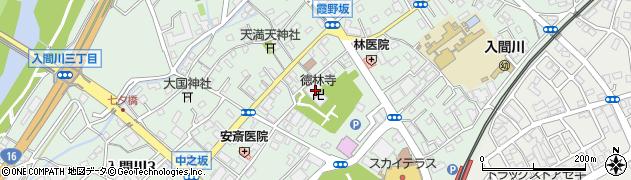 徳林寺周辺の地図