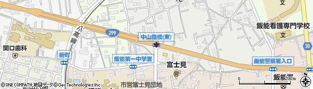 中山陸橋東周辺の地図