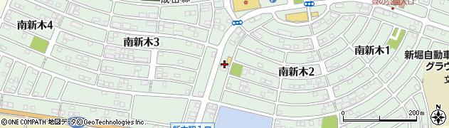 千葉県我孫子市南新木周辺の地図
