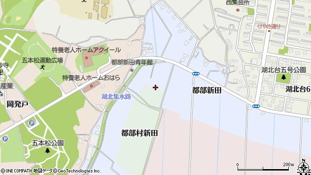 〒270-1135 千葉県我孫子市都部新田の地図