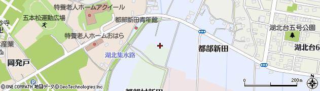 千葉県我孫子市都部新田周辺の地図