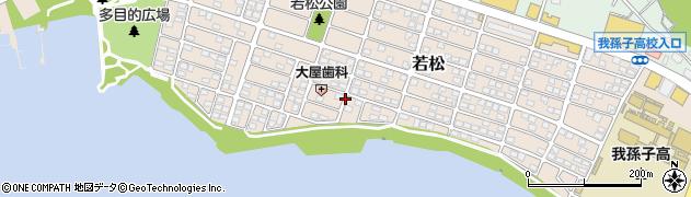 千葉県我孫子市若松周辺の地図