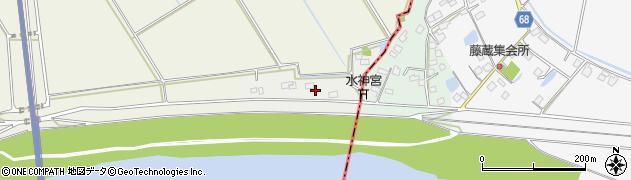 茨城県利根町(北相馬郡)東奥山新田周辺の地図