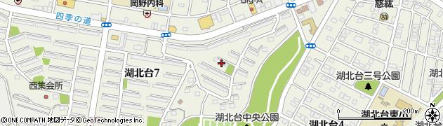 千葉県我孫子市湖北台周辺の地図