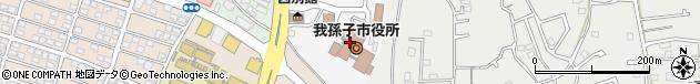 千葉県我孫子市周辺の地図