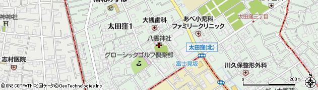 八雲神社周辺の地図