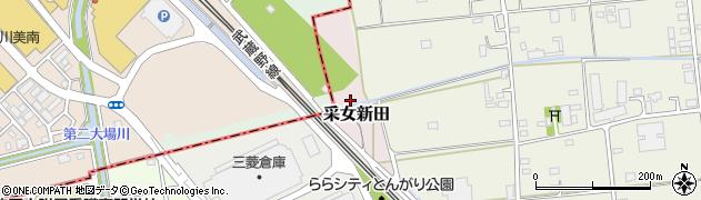埼玉県三郷市采女新田周辺の地図