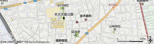 埼玉県さいたま市浦和区本太周辺の地図