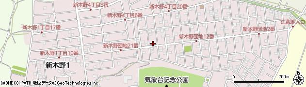 千葉県我孫子市新木野周辺の地図