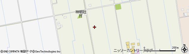 茨城県河内町(稲敷郡)大徳鍋子新田周辺の地図