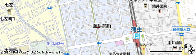 埼玉県越谷市蒲生茜町周辺の地図