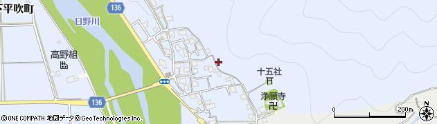 福井県越前市下平吹町周辺の地図