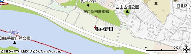 千葉県我孫子市根戸新田周辺の地図